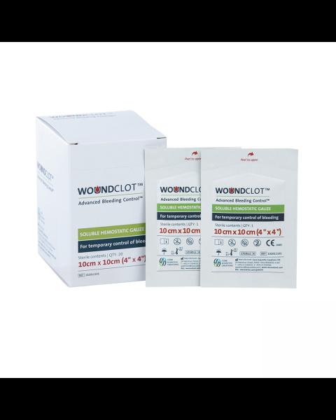 WoundClot ABC Gauze (10cm x 10cm) Box of 20
