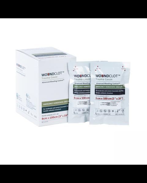 WoundClot Trauma Gauze (8cm x 100cm) Box of 10