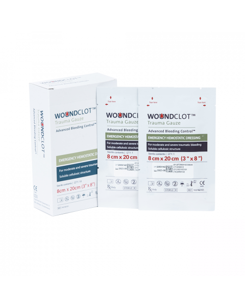 WoundClot Trauma Gauze (8cm x 20cm) Box of 10
